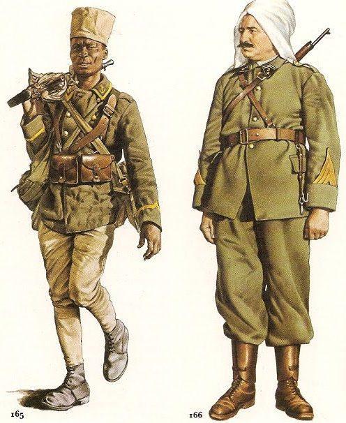 Африканские пехотинцы.