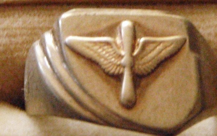 Кольца пилотов ВВС, изготовленные из латуни.