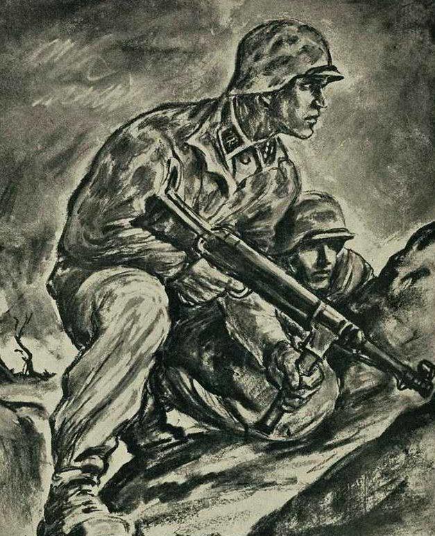 Wigforss Finn. Добровольцы из норвежского подразделения СС.