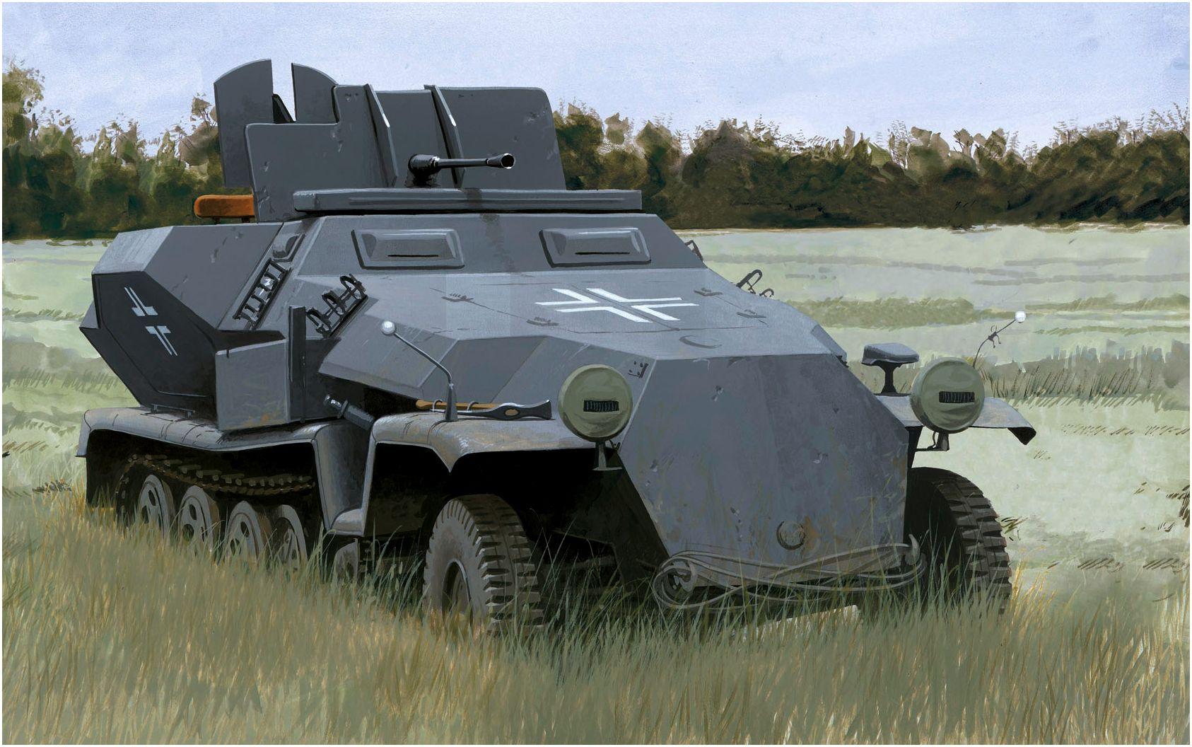 Volstad Ronald. ЗСУ 2-cm Flak 38 на базе SdKfz 251/7.