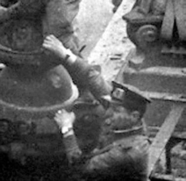 Фрагмент снимка с двумя хронометрами.