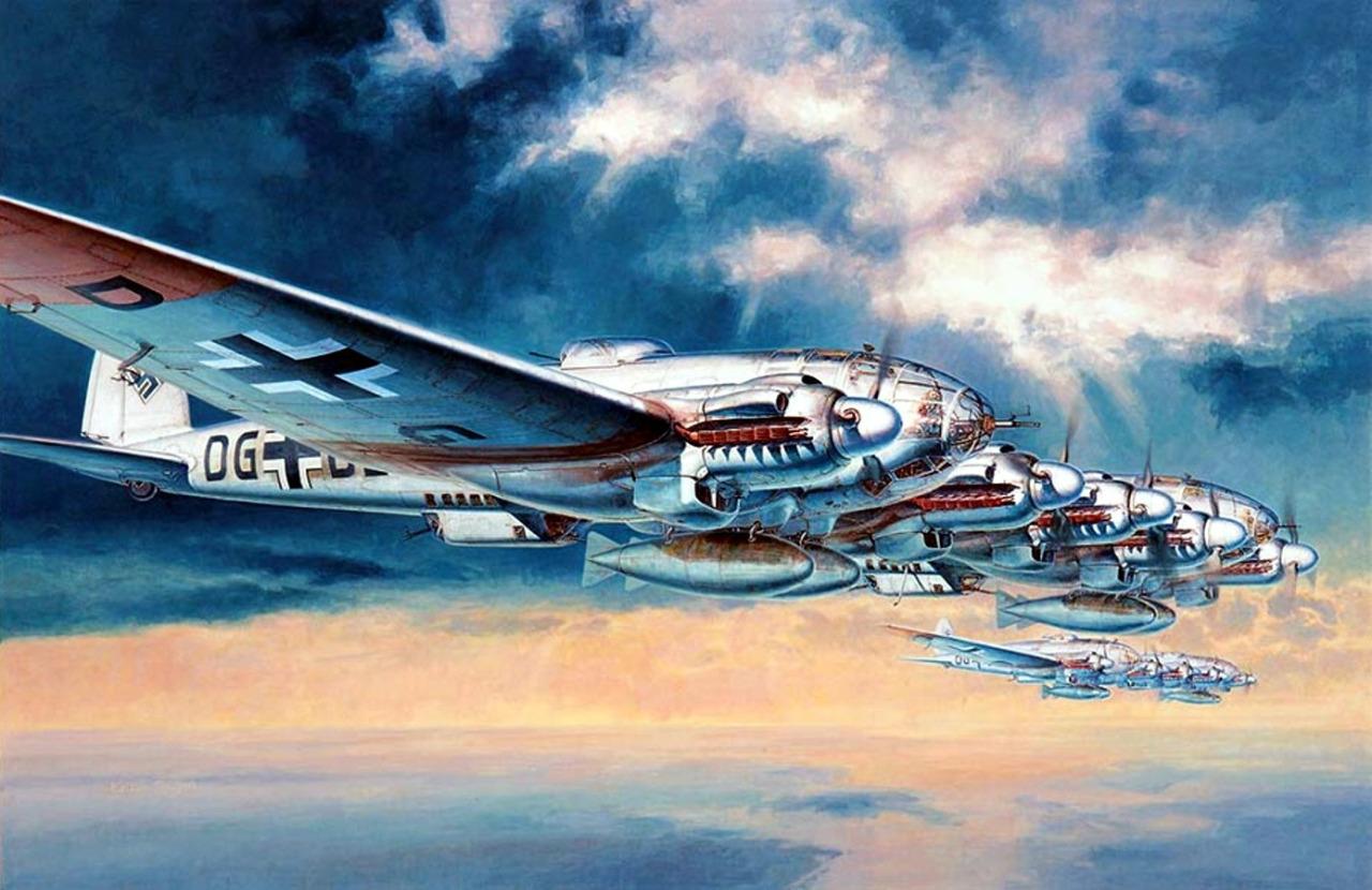 Shigeo Koike. Бомбардировщики Не-111.