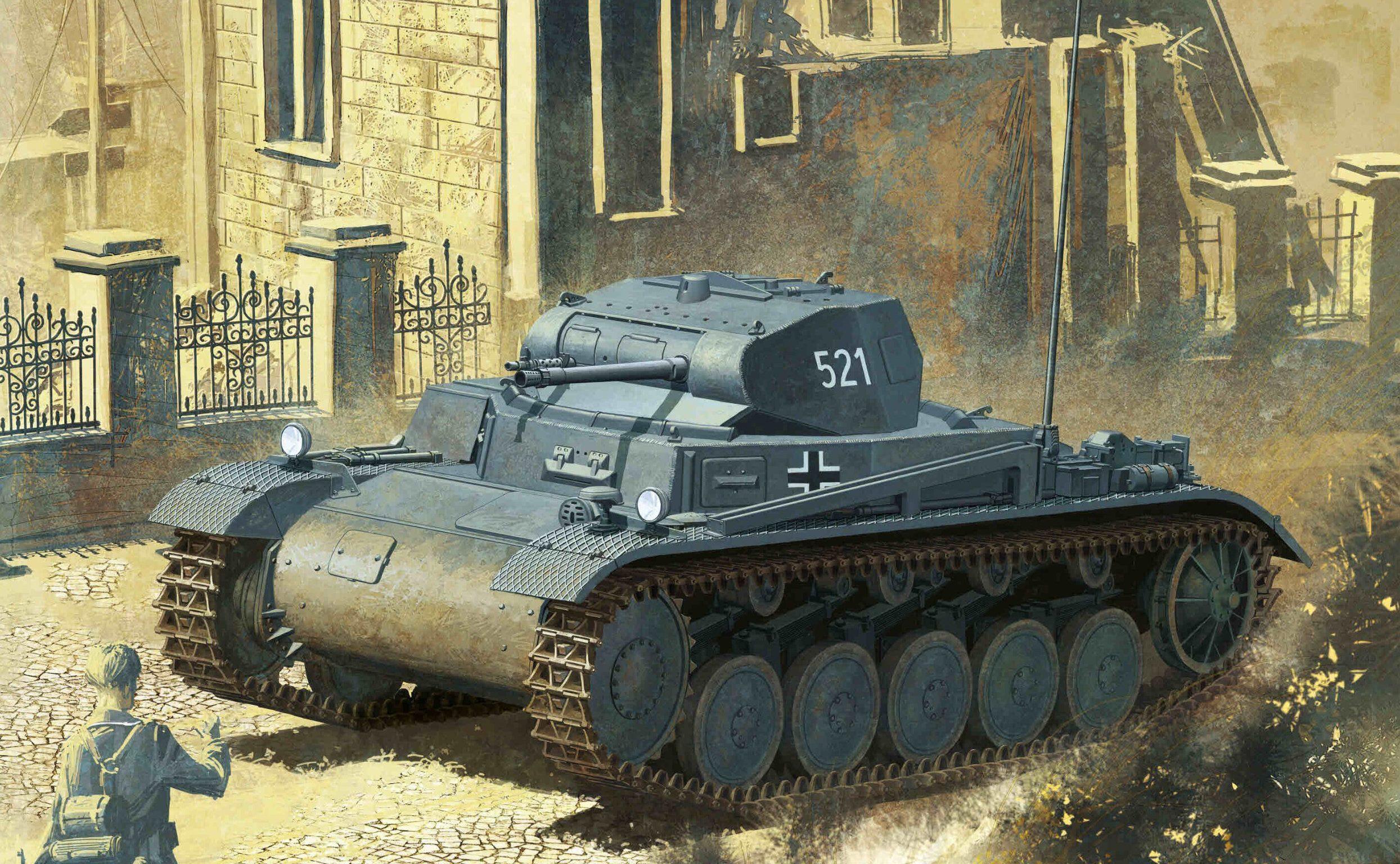Heum Chang. Легкий танк Pz.Kpfw. II Ausf. B.