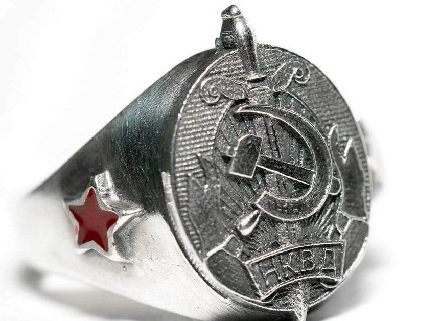 Современные реплики по мотивам символики НКВД.