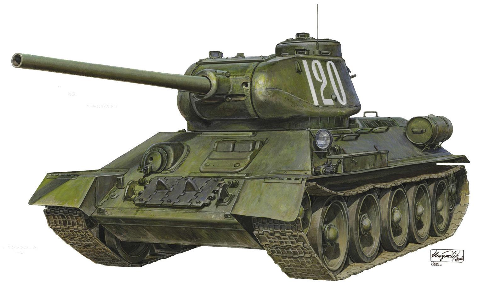 Sasaki H. & Kurokawa T. Танк Т-34-85.
