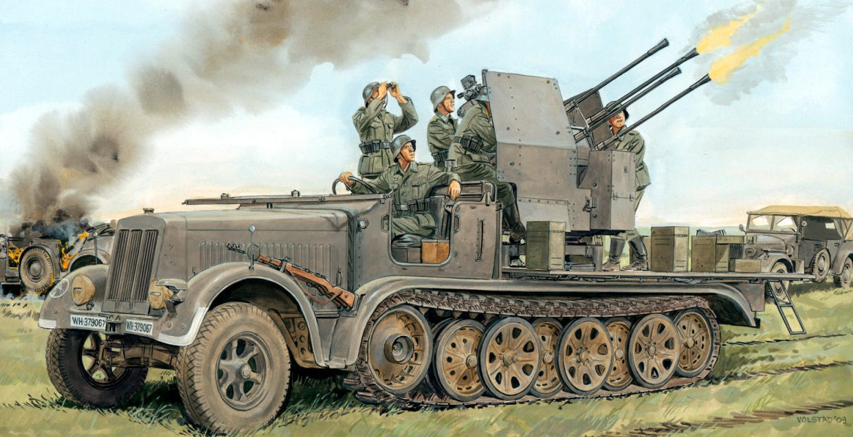 Volstad Ronald. ЗСУ 2-cm Flakvierling 38.