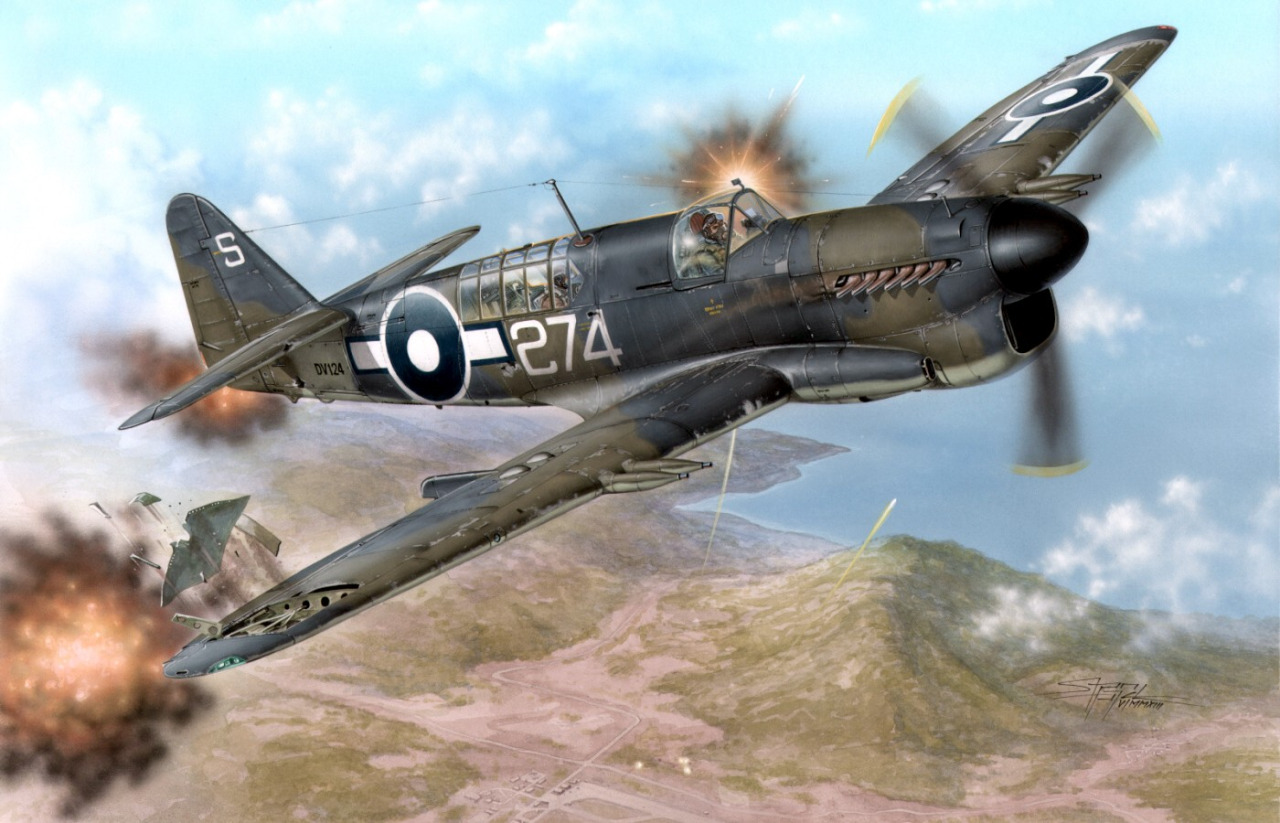 Hajek Stanislav. Палубный истребитель Fairey Firefly Mk.1.