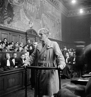 Отто Абец в Высоком Суде Правосудия. Париж. 1946 г.