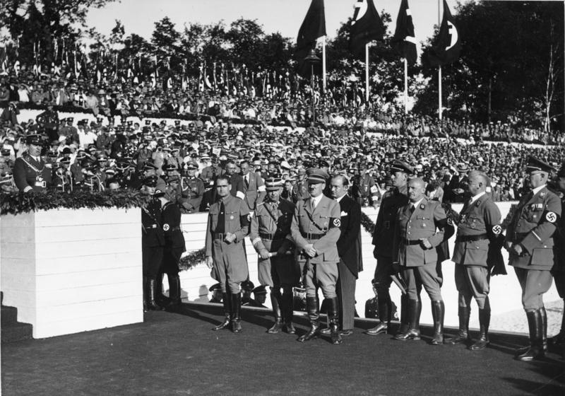 Рудольф Гесс на съезде НСДАП. Ньюрнберг.1935 г.