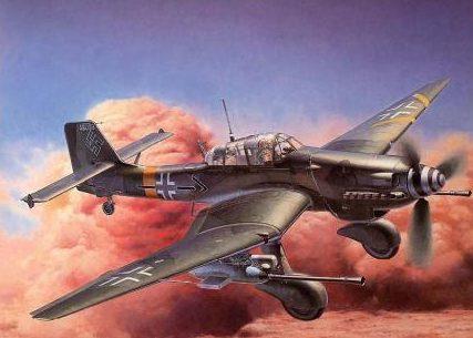 Shigeo Koike. Пикирующий бомбардировщик Ju-87.