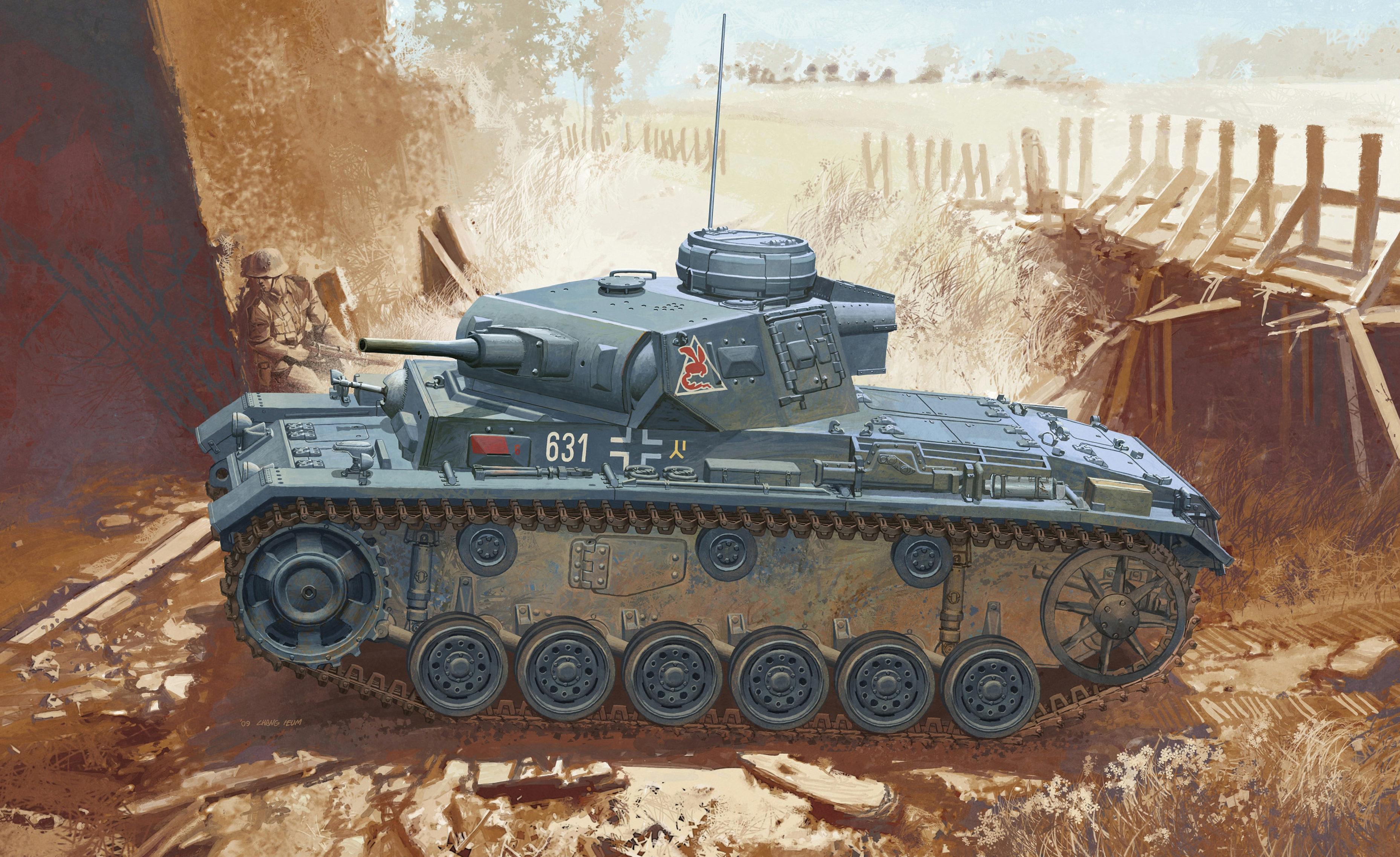 Heum Chang. Танк Pz.Kpfw.III Ausf. J.