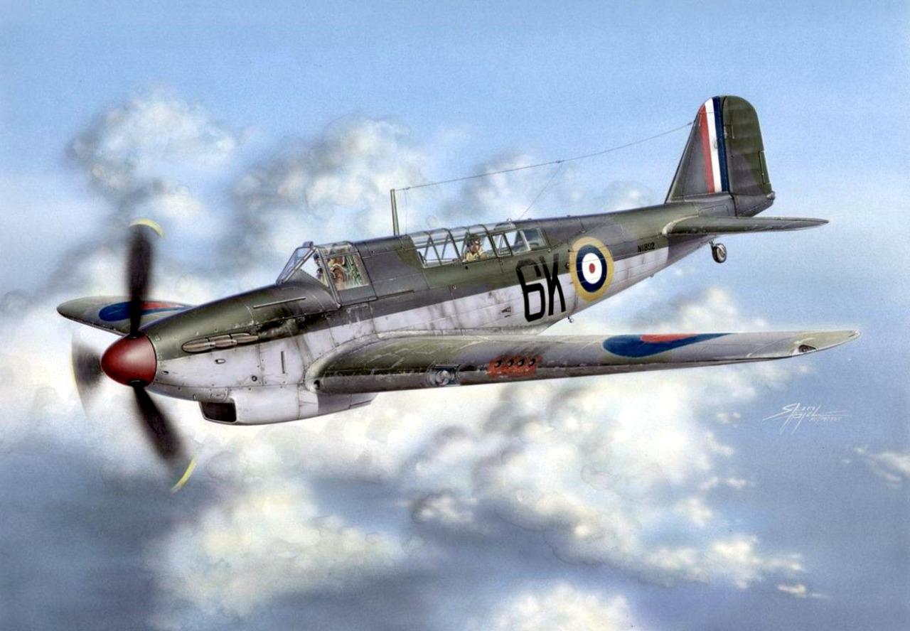 Hajek Stanislav. Истребитель Fairey Fulmar Mk. I.