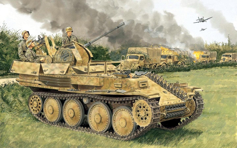Volstad Ronald. ЗСУ Flakpanzer 38 (t).