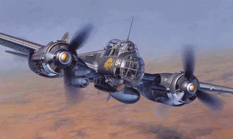 Shigeo Koike. Бомбардировщик Ju-88.