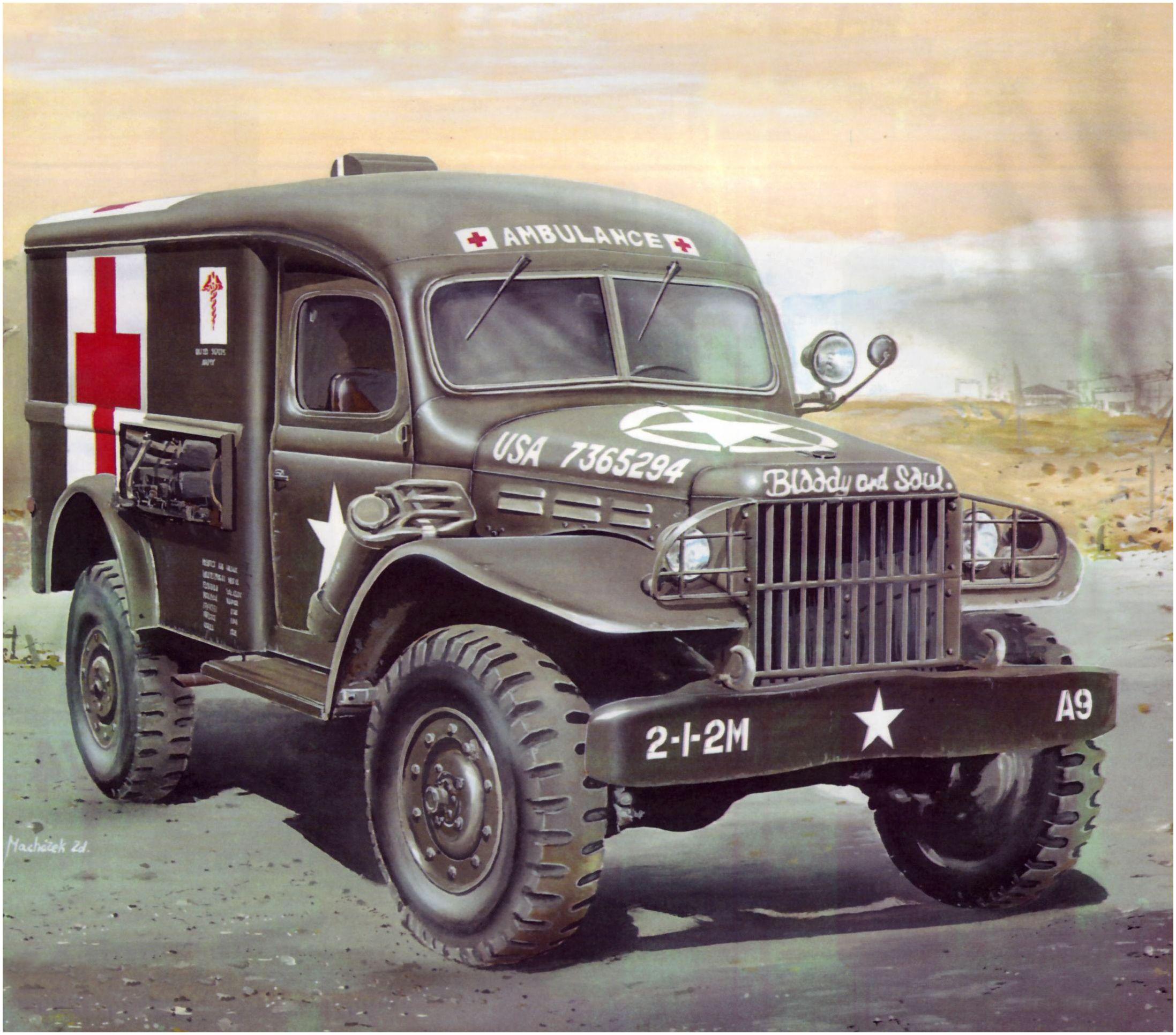 Machácek Zdenek. Санитарный фургон Dodge WC-54.
