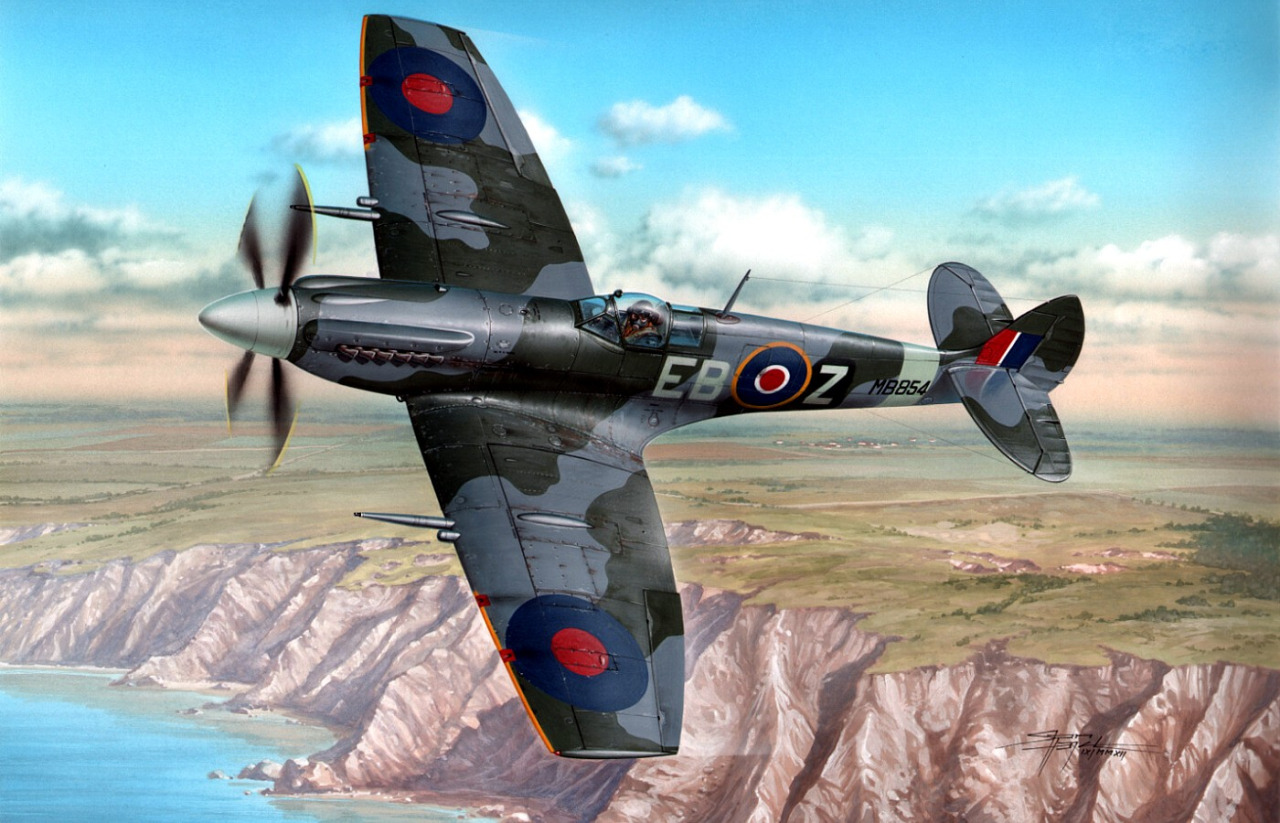 Hajek Stanislav. Истребитель Spitfire Mk.XII.