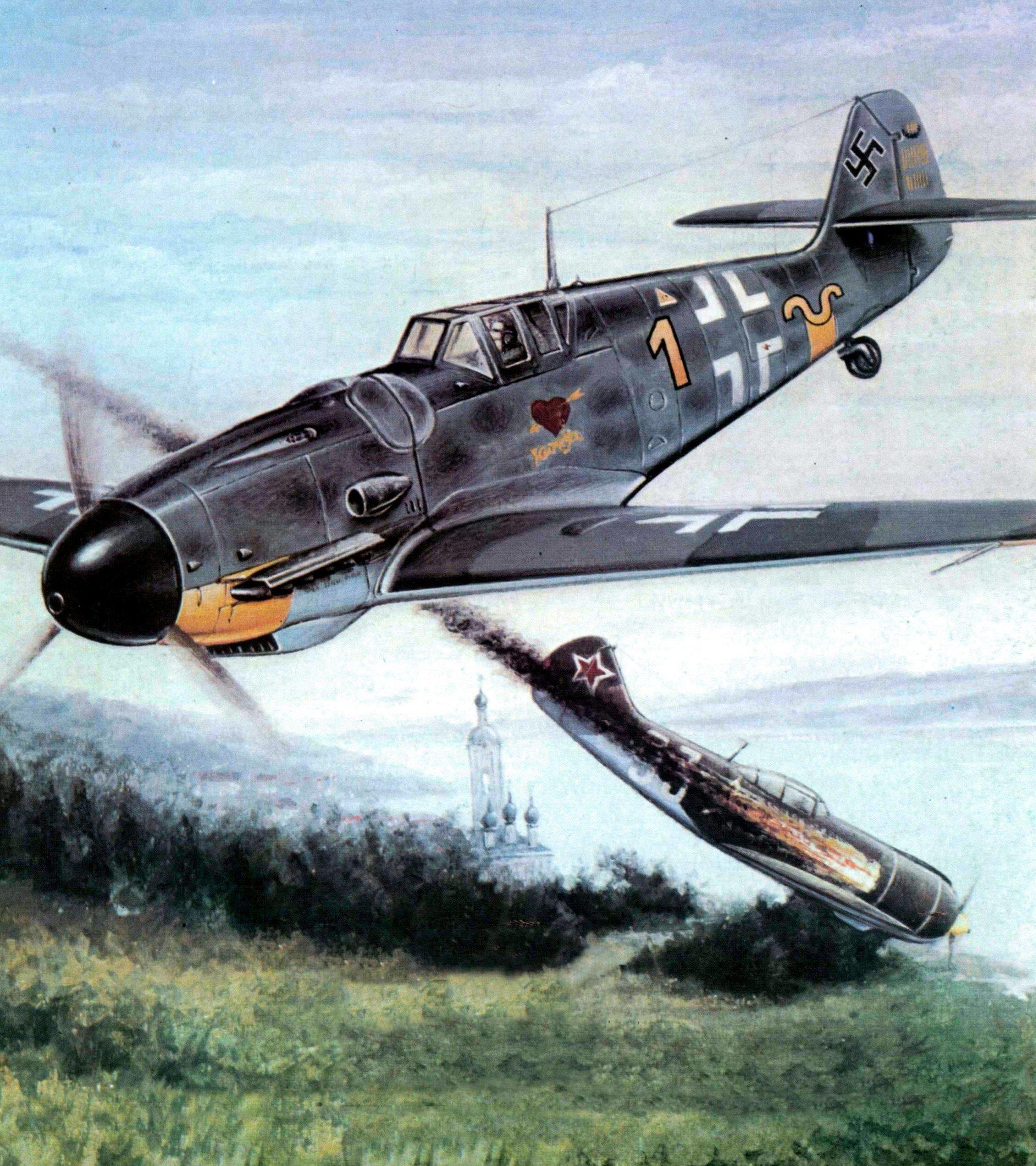 Pecko Zenon. Истребитель Messerschmitt Bf-109G.