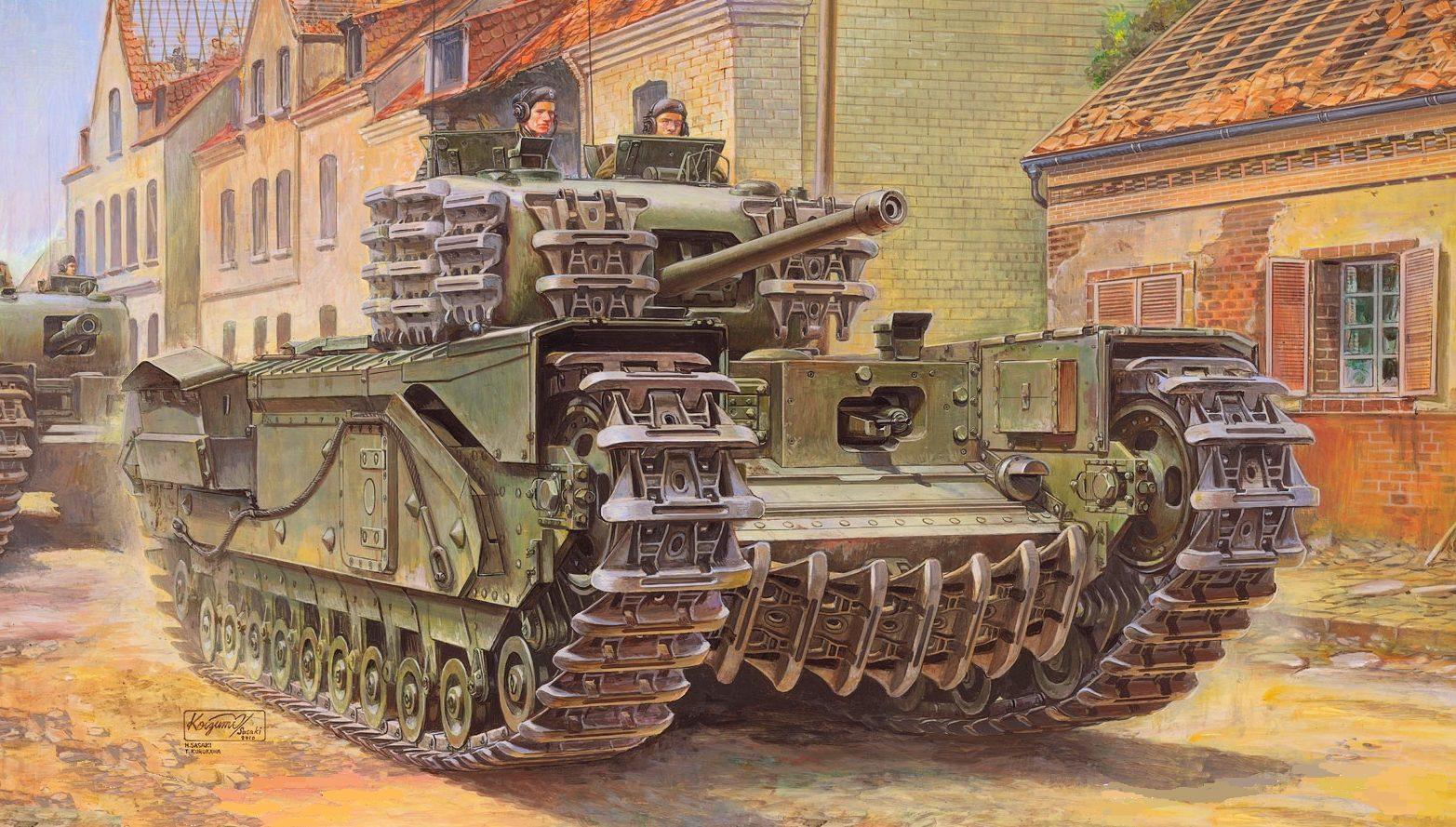 Sasaki H. & Kurokawa T. Танк Churchill Mk. IV.