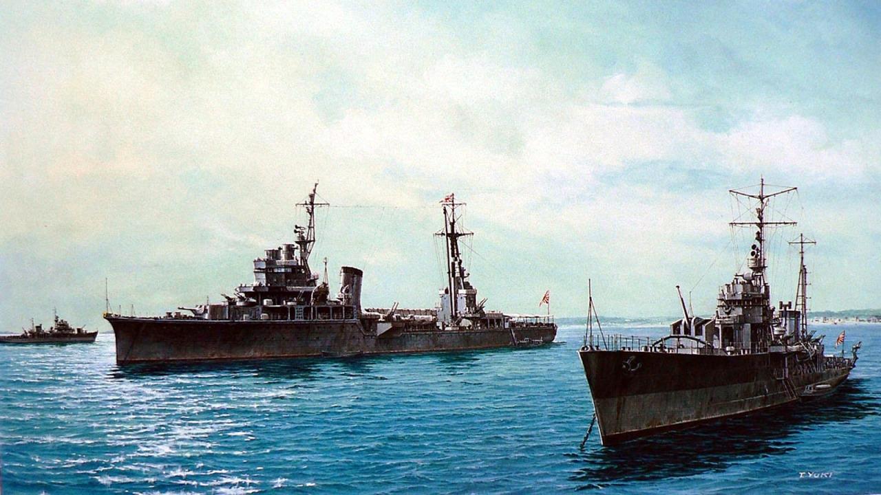 Takeshi Yuki. Эсминец «Kashii».