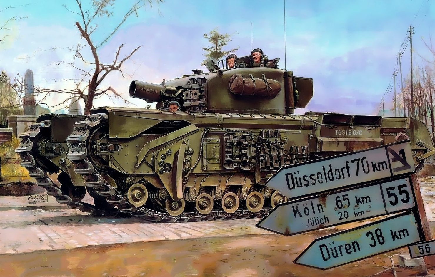 Sasaki H. & Kurokawa T. Танк Churchill Mk.IV.