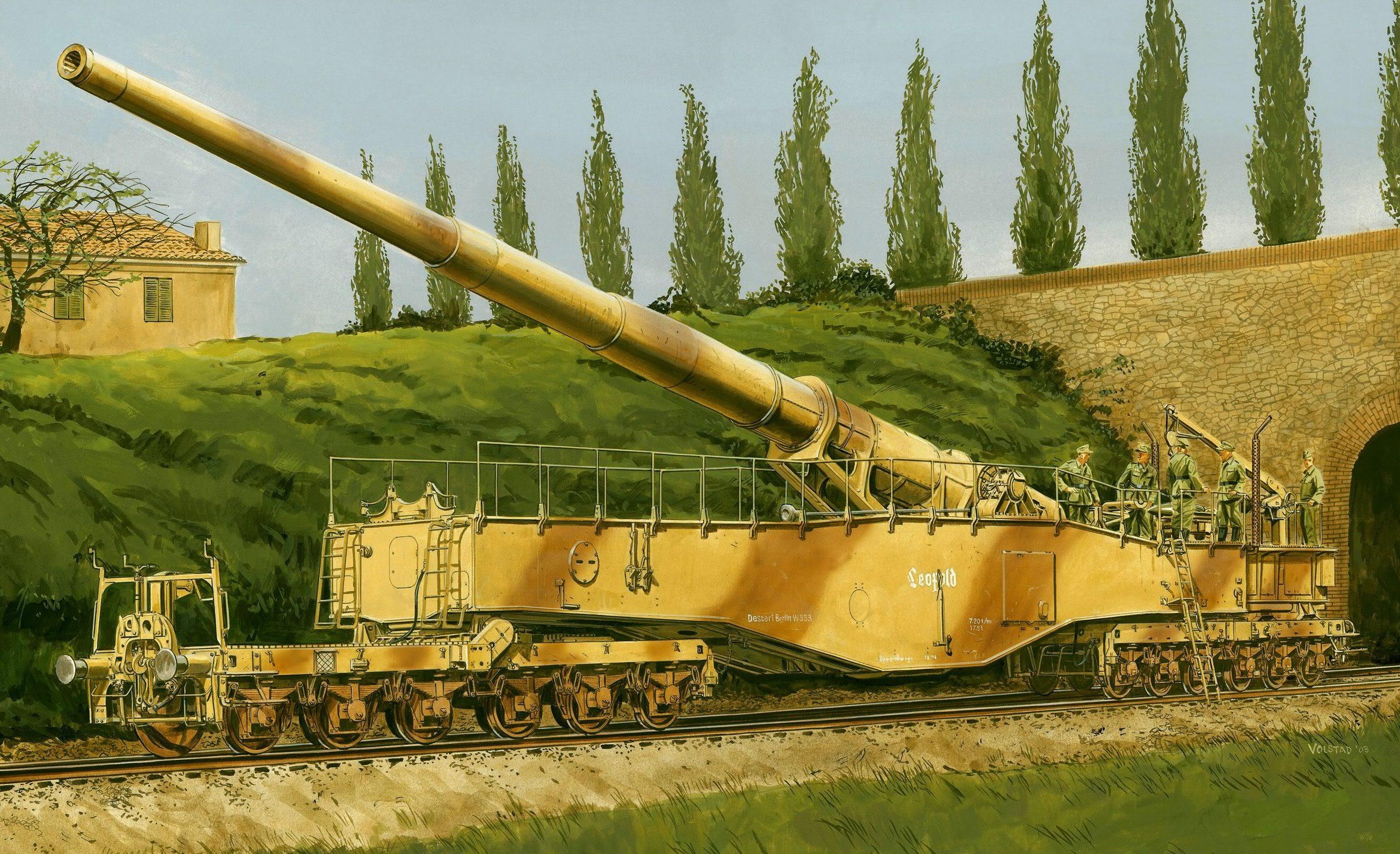 Volstad Ronald. Немецкое железнодорожное орудие K5(E) «Leopold».