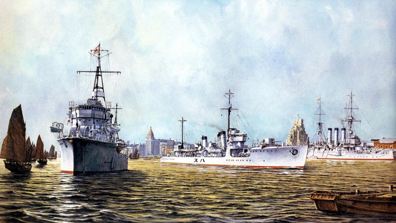 Takeshi Yuki. Японские эсминцы в Шанхае.