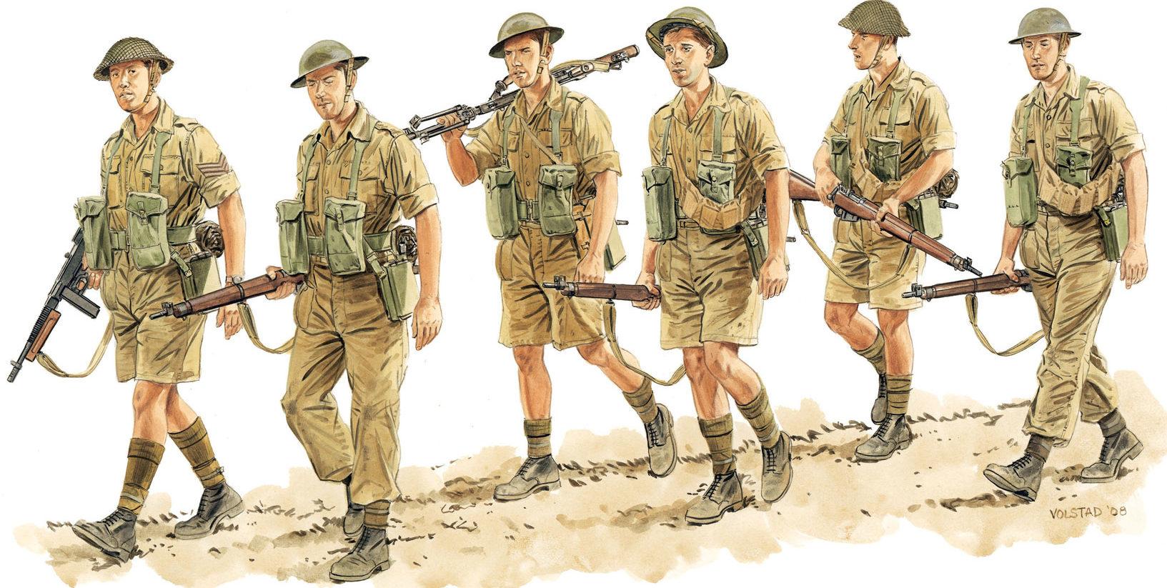 Volstad Ronald. Британская пехота.