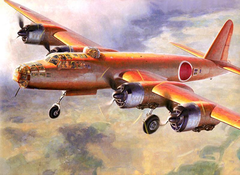 Shigeo Koike. Бомбардировщик Nakajima G-8N «Renzan».