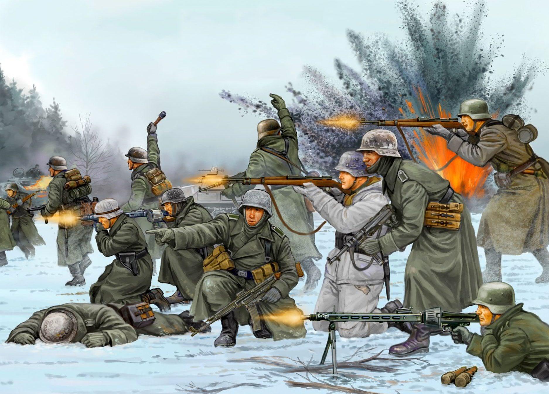 Wai Vincent. Немецкая пехота.