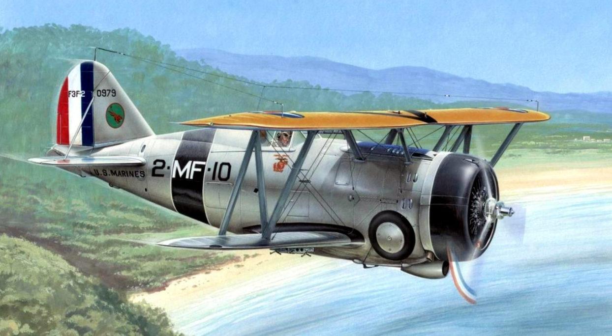 Hajek Stanislav. Истребитель Grumman F3F-2.