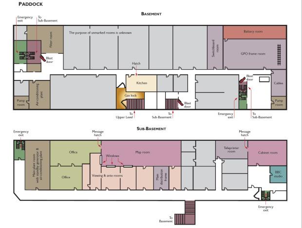 Поэтажный план бункера.
