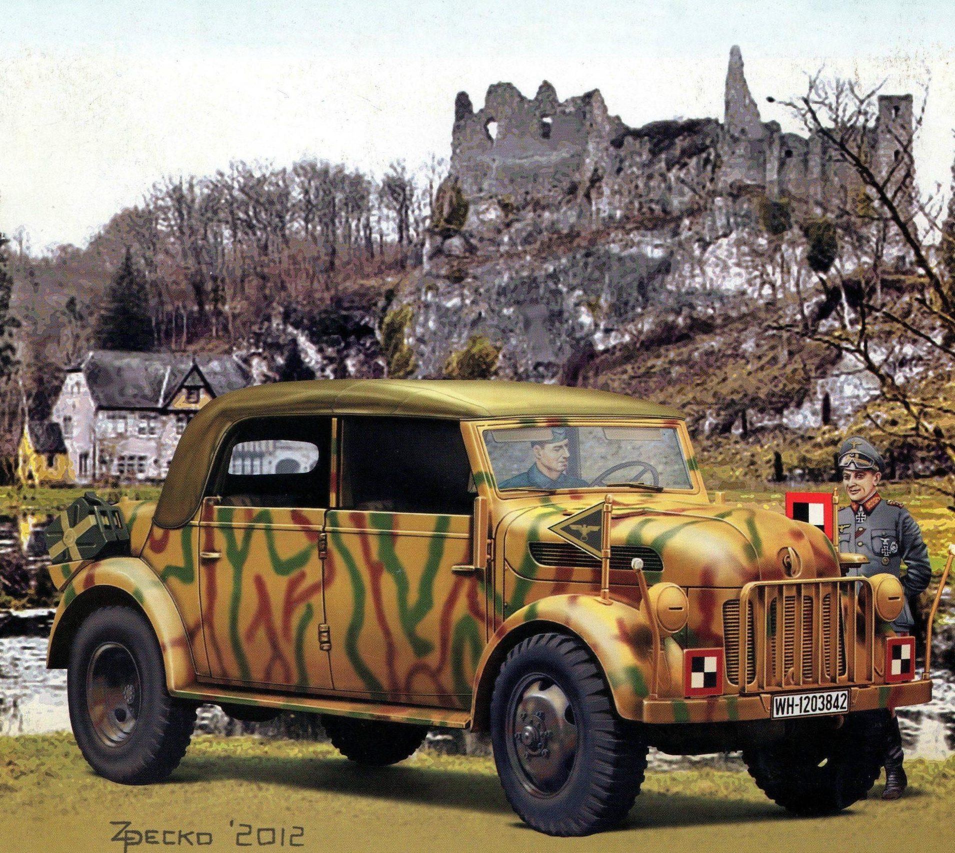 Pecko Zenon. Внедорожник Steyr 1500A.