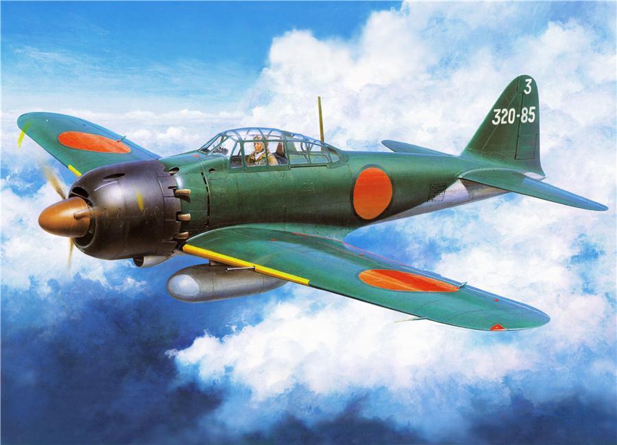 Shigeo Koike. Палубные истребители Mitsubishi A-6M1 «Reisen».