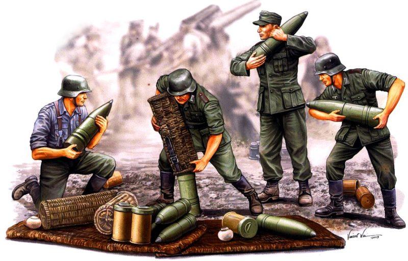Wai Vincent. Немецкие артиллеристы.