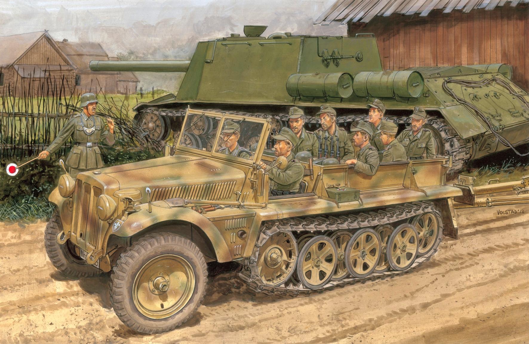 Volstad Ronald. Полугусеничный тягач Sd.Kfz.10 Ausf. B.