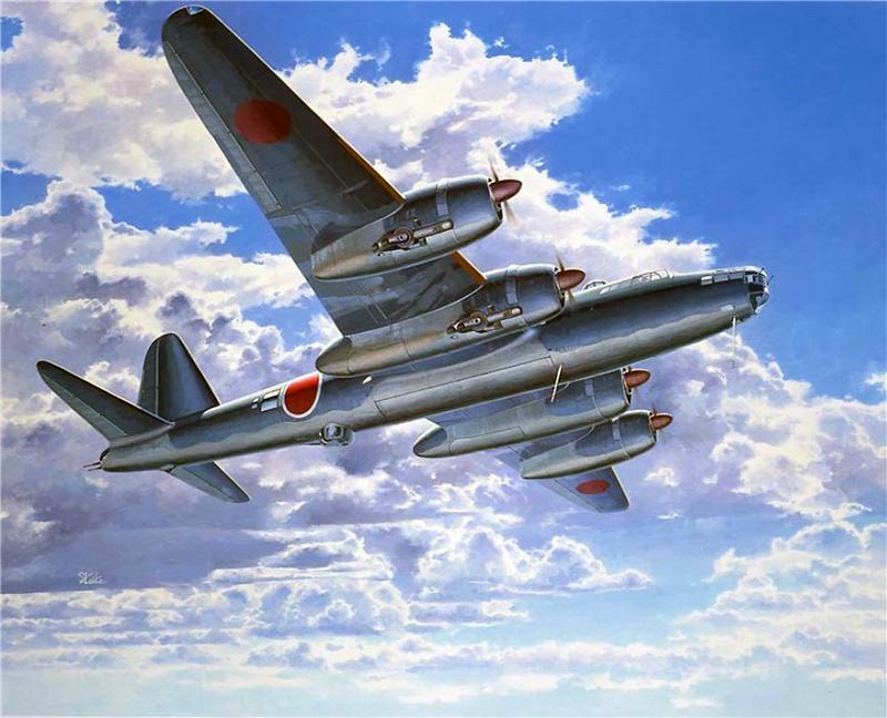 Shigeo Koike. Бомбардировщик Aichi M-6A.
