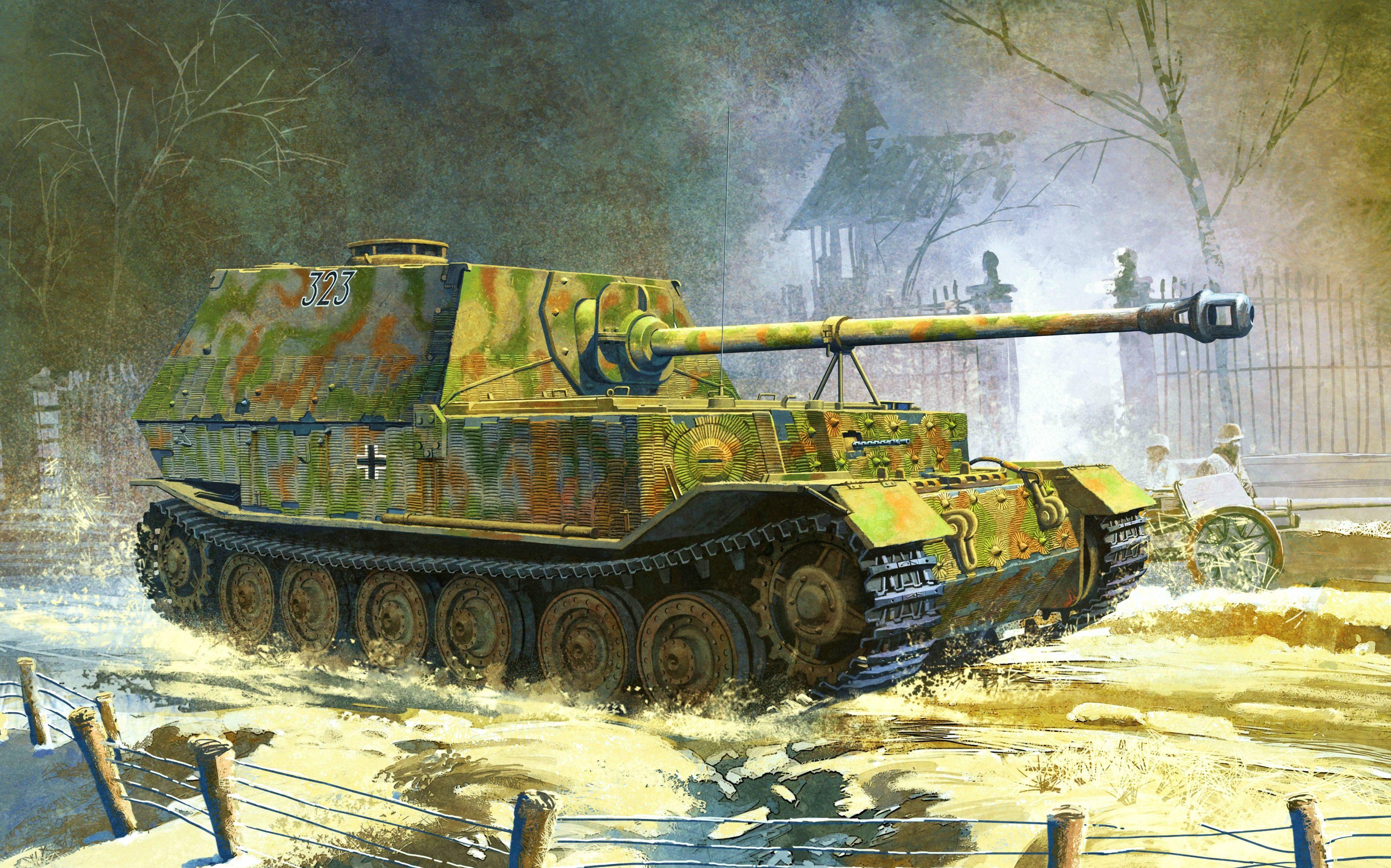 Heum Chang. САУ Jagdpanzer Elefant.