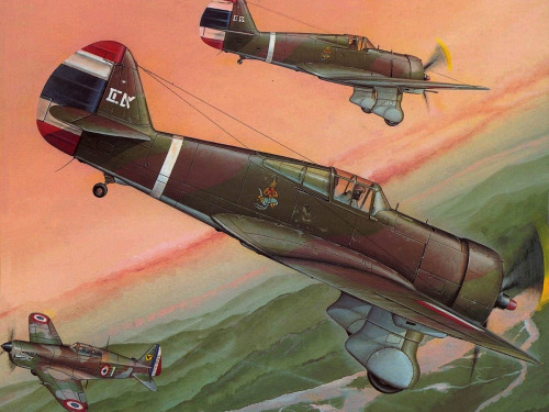 Hajek Stanislav. Истребители Curtiss 75-N.