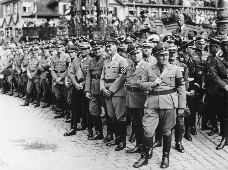 Вальтер Бух на съезде НСДАП. Нюрнберг. 1938 г.