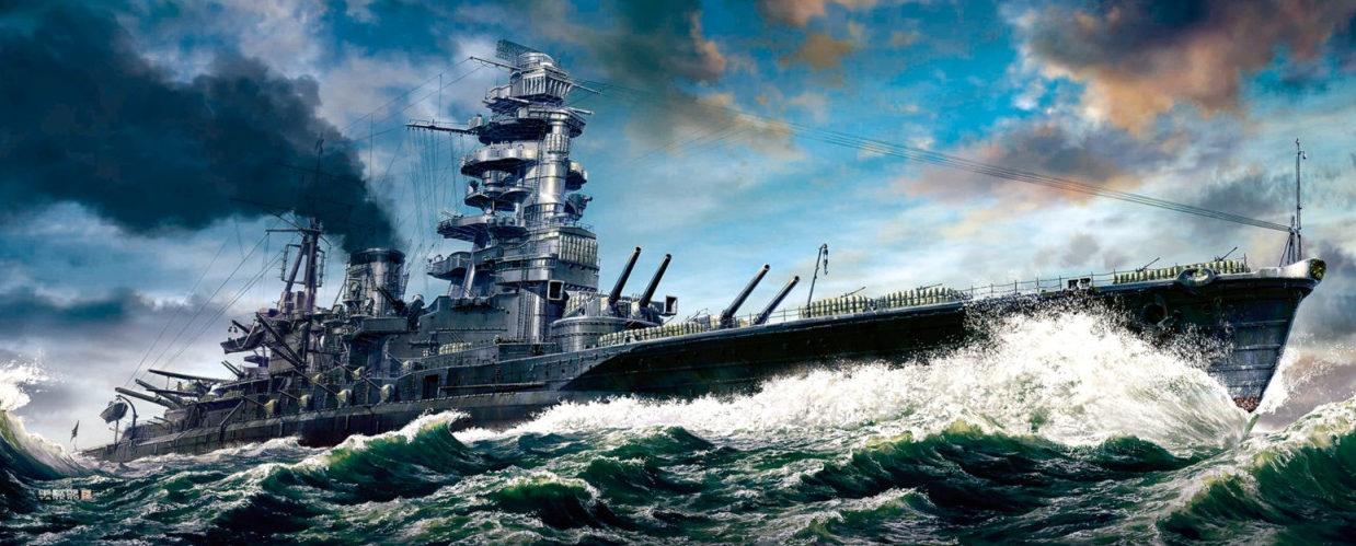 Hasegawa Tohaku. Линкор Nagato.