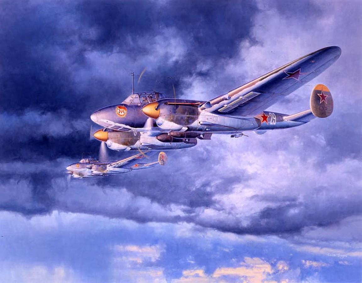 Shigeo Koike. Бомбардировщики Пе-2.