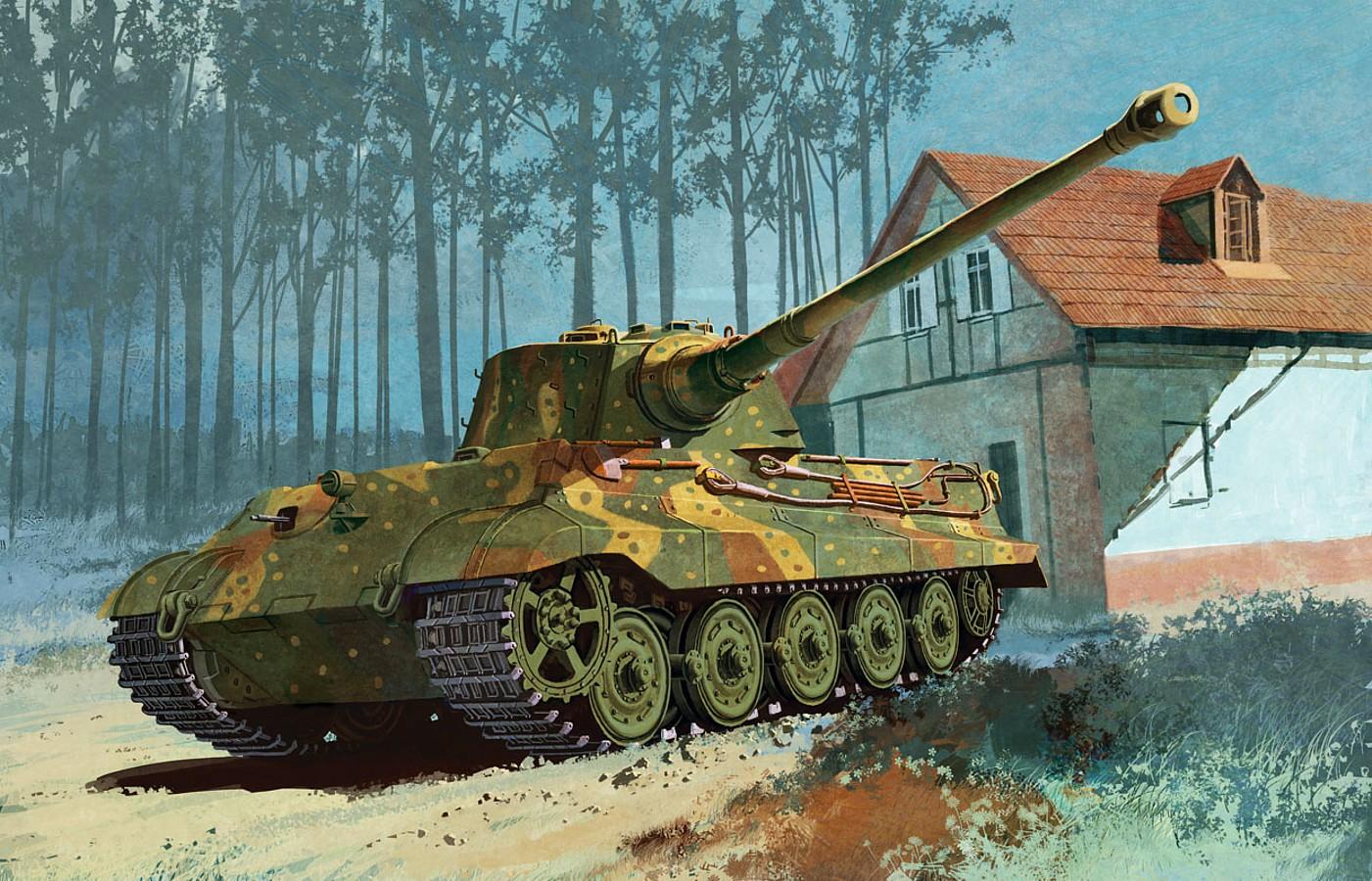 Heum Chang. Танк Sd.Kfz.182 Kingtiger.