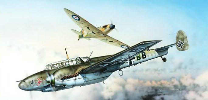 Novotny Martin. Истребитель Bf-110C.