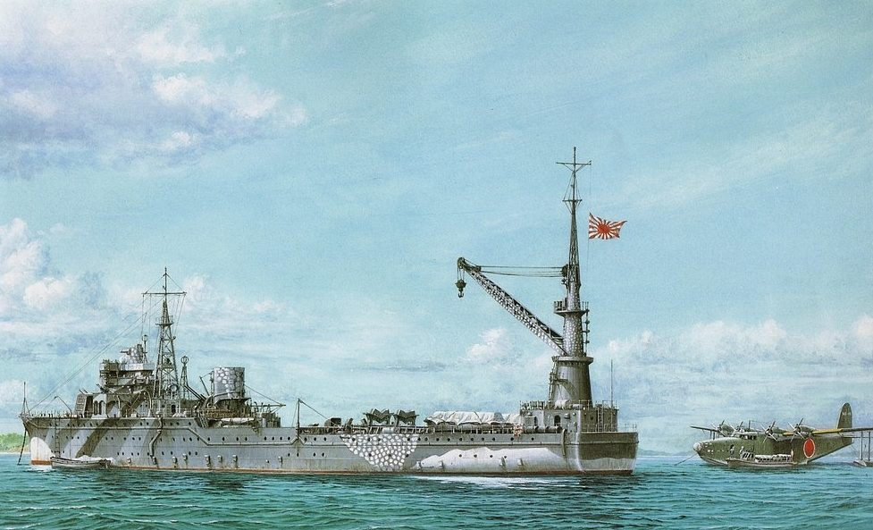 Takeshi Yuki. Плавбаза гидросамолетов «Akitsushima».