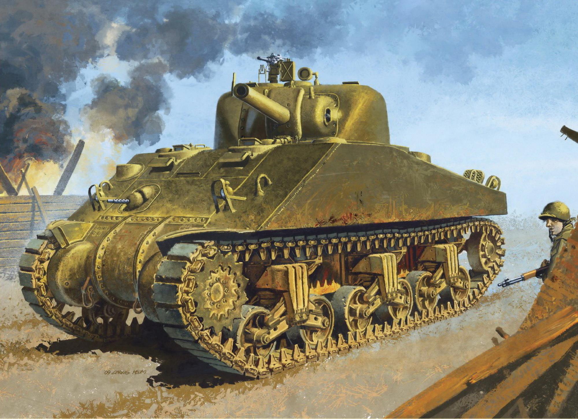 Heum Chang. Танк M-4 Sherman.