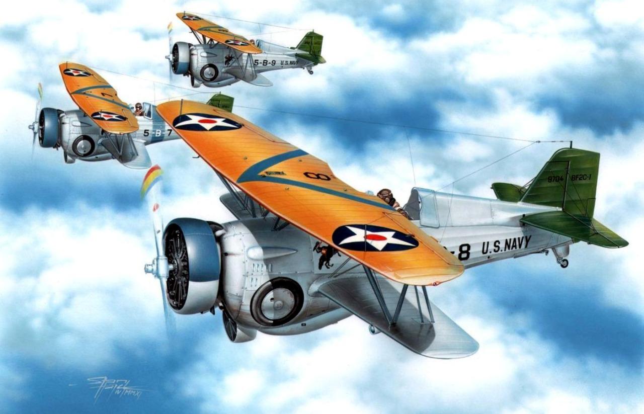 Hajek Stanislav. Истребители Curtiss BF2C-1.