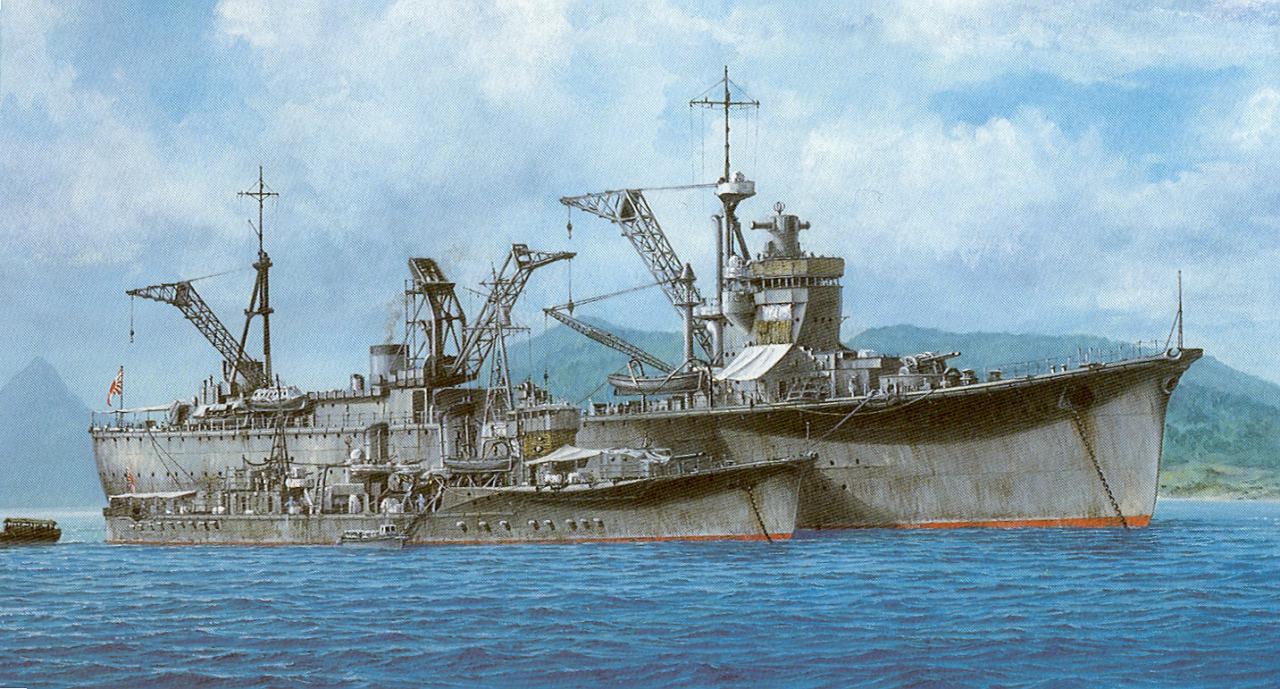 Takeshi Yuki. Ремонтная плавбаза «Akashi».
