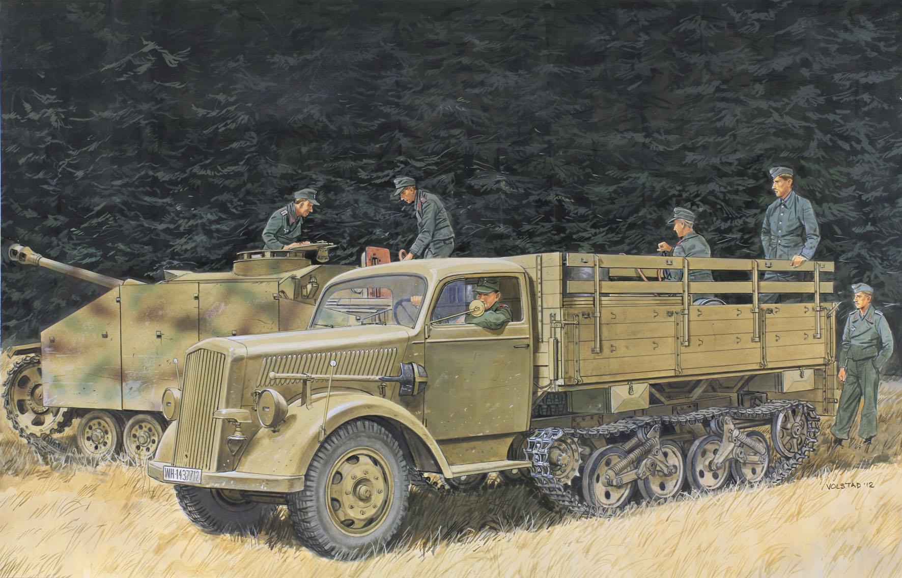Volstad Ronald. Полугусеничный грузовик Opel Blitz Maultier.