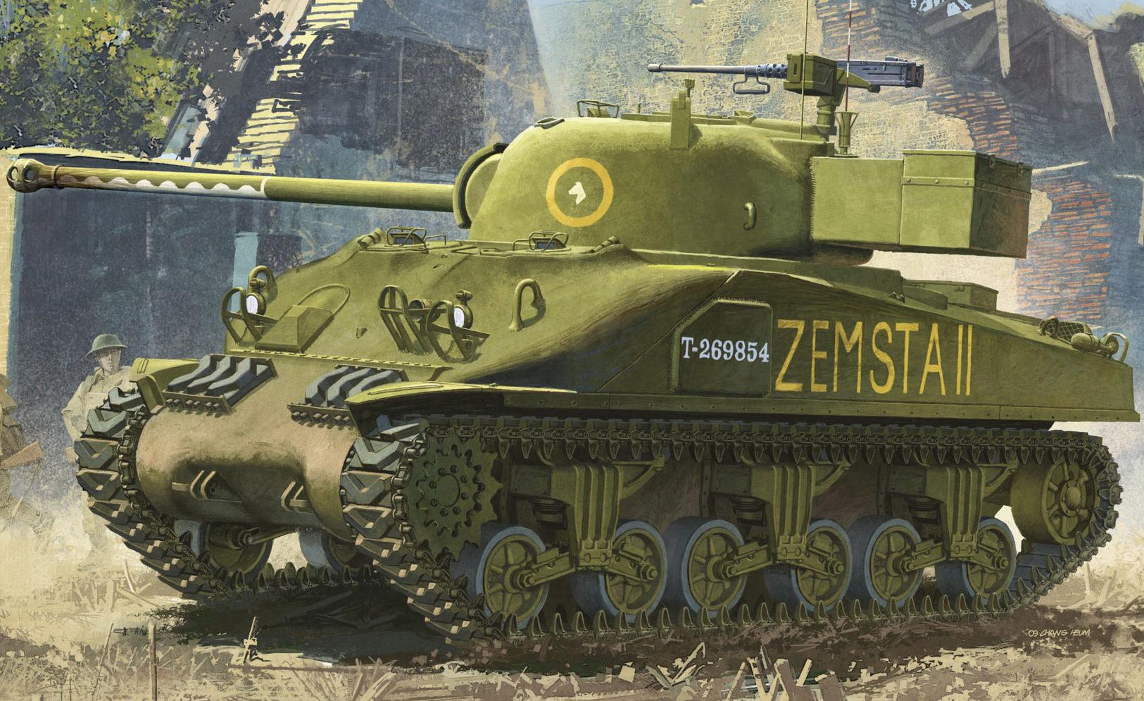 Heum Chang. Танк Sherman Mk.Ic.