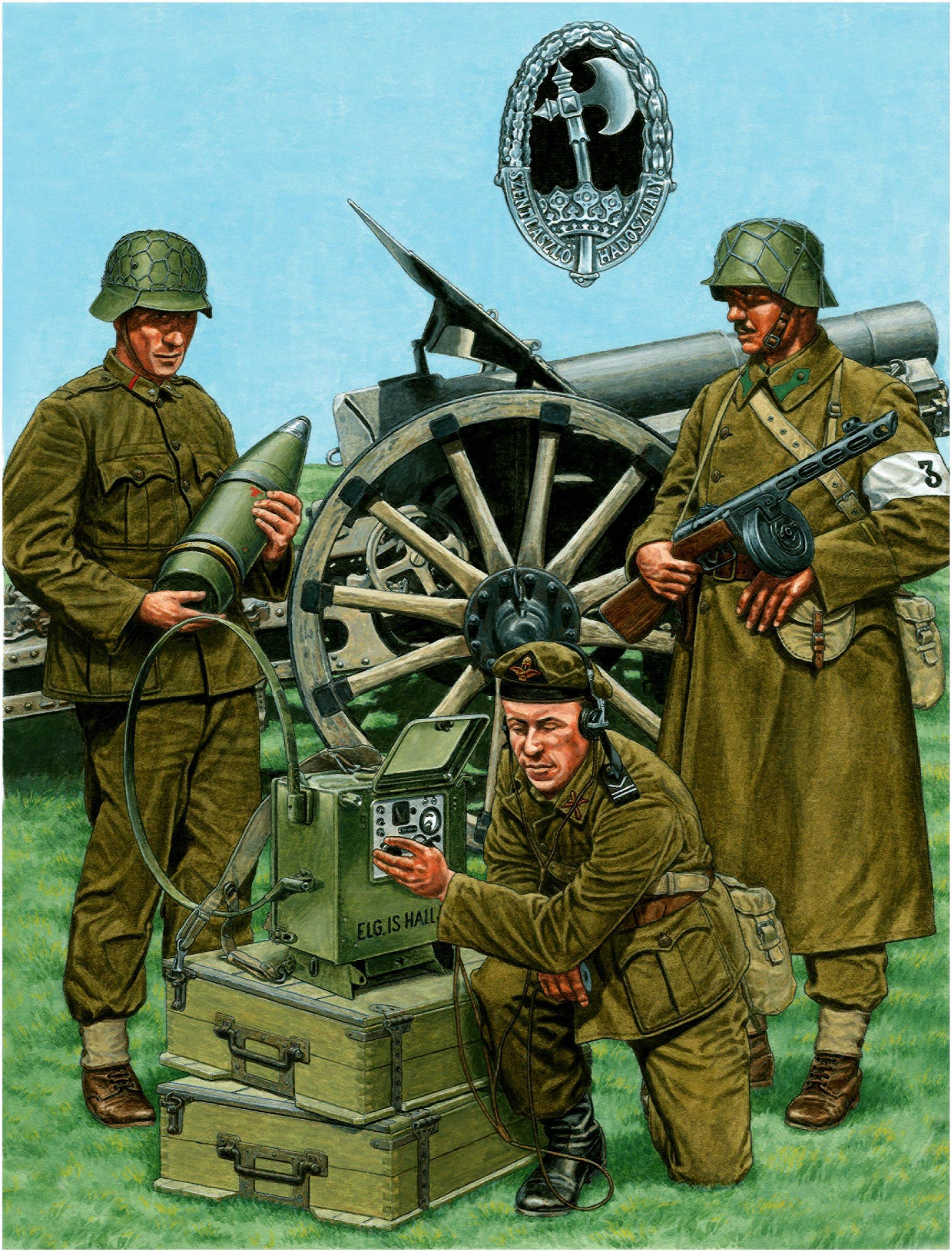 Pavlovic Darko. Венгерские солдаты.
